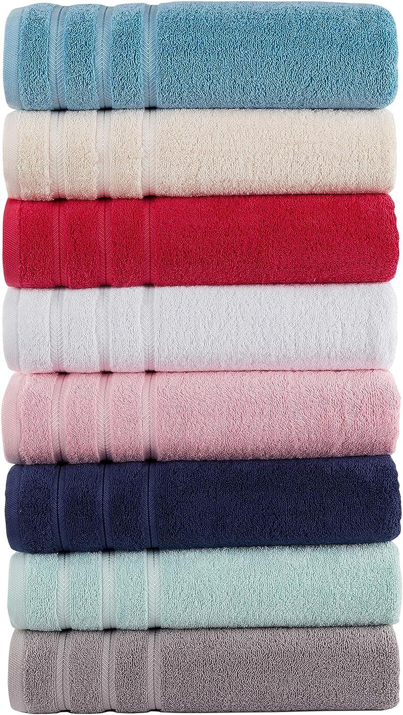 Comfort Realm Soft 6 Piece Towel Set, 600 GSM 100 Percent Cotton 2 Bath Towels 2 Hand Towels 2 Face Towel (6 Piece Towel Set, Silver): Kitchen & Dining