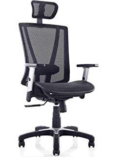 ergomax fully meshed ergo office chair with headrest black
