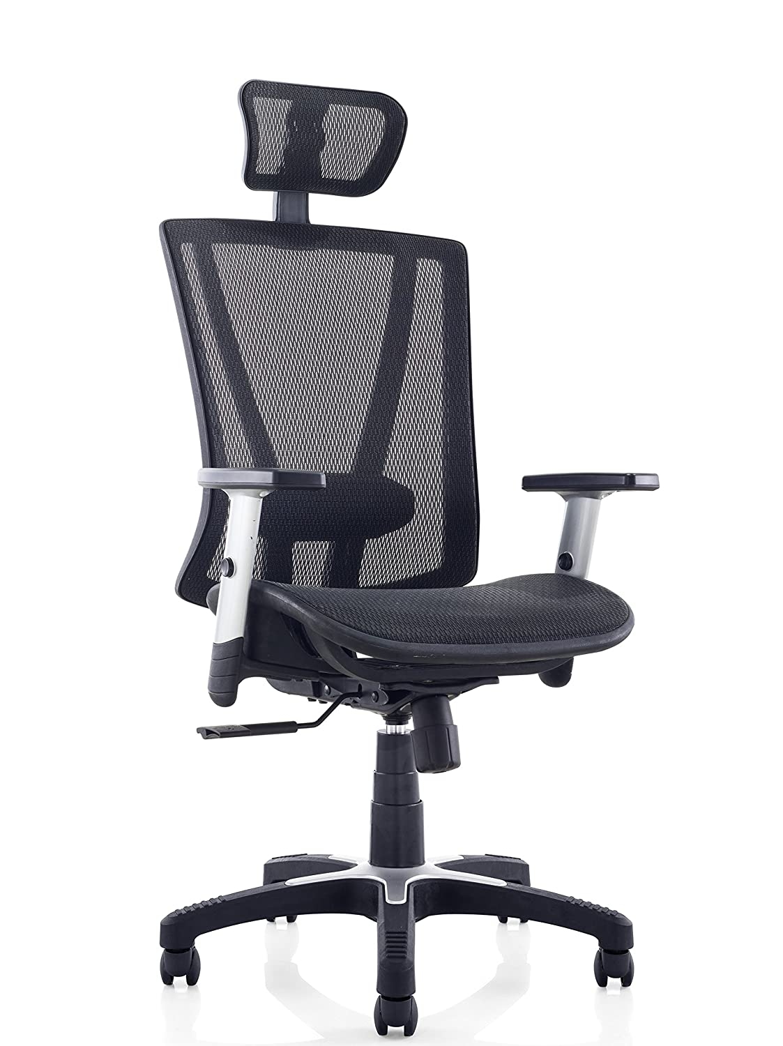 ErgoMax Fully Meshed Ergonomic Height w/Armrests & Headrest Adjustable Office Chair, 52 Inch Max, Black