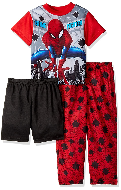 49ad135cd Amazon.com  Marvel Boys  Big Spiderman 3-Piece Pajama Set