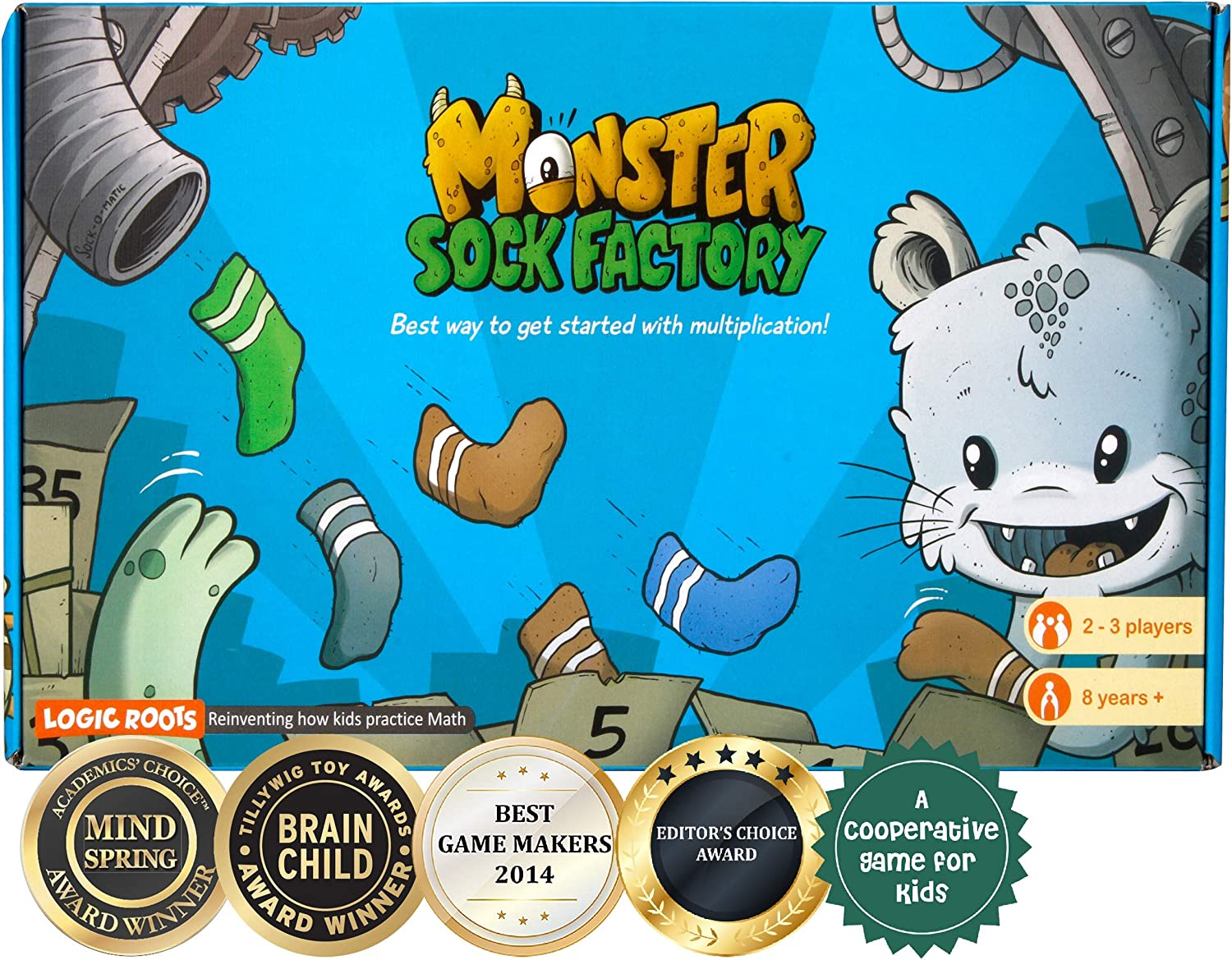 Logic Roots Monster Sock Factory Multiplication and Division Game