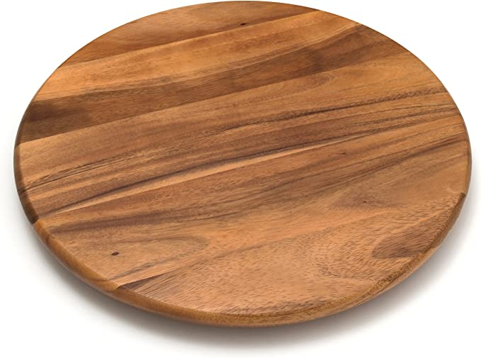 "Amazon.com: Lipper International Acacia Wood 18"" Lazy Susan Kitchen Turntable: Lazy Susan Turntable: Kitchen & Dining"