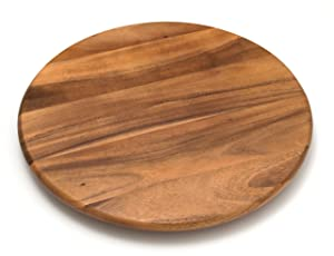 "Lipper International 1118 Acacia Wood 18"" Lazy Susan Kitchen Turntable"