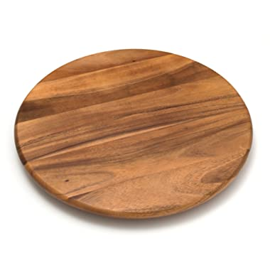 Lipper International 1118 Acacia Wood 18  Lazy Susan Kitchen Turntable