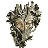 Design Toscano Bashful Wood Sprite Tree Face Mystic Decor Wall Sculpture, 33 cm, Polyresin, Two Tone Stone