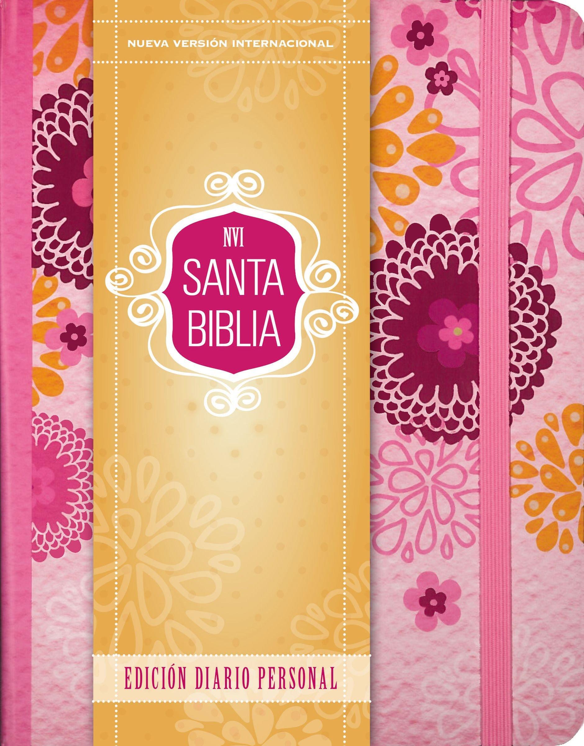 Santa Biblia Nvi, Edición Diario Personal - Rosa: Amazon.es: Zondervan: Libros