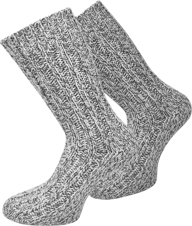 2 Paar Norweger Socken mit hohem Schafwollanteil - superweich vorgewaschen für Damen und Herren