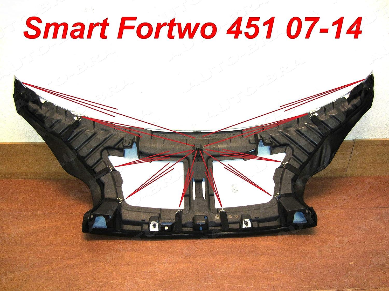 BONNET BRA AB3-00129 Bra f/ür Fortwo W451 Haubenbra Steinschlagschutz Tuning
