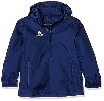 5413d5971ea3 adidas Kinder Jacke Anoraks Coref rai jkty Regenjacke, Dark Blue White, 116