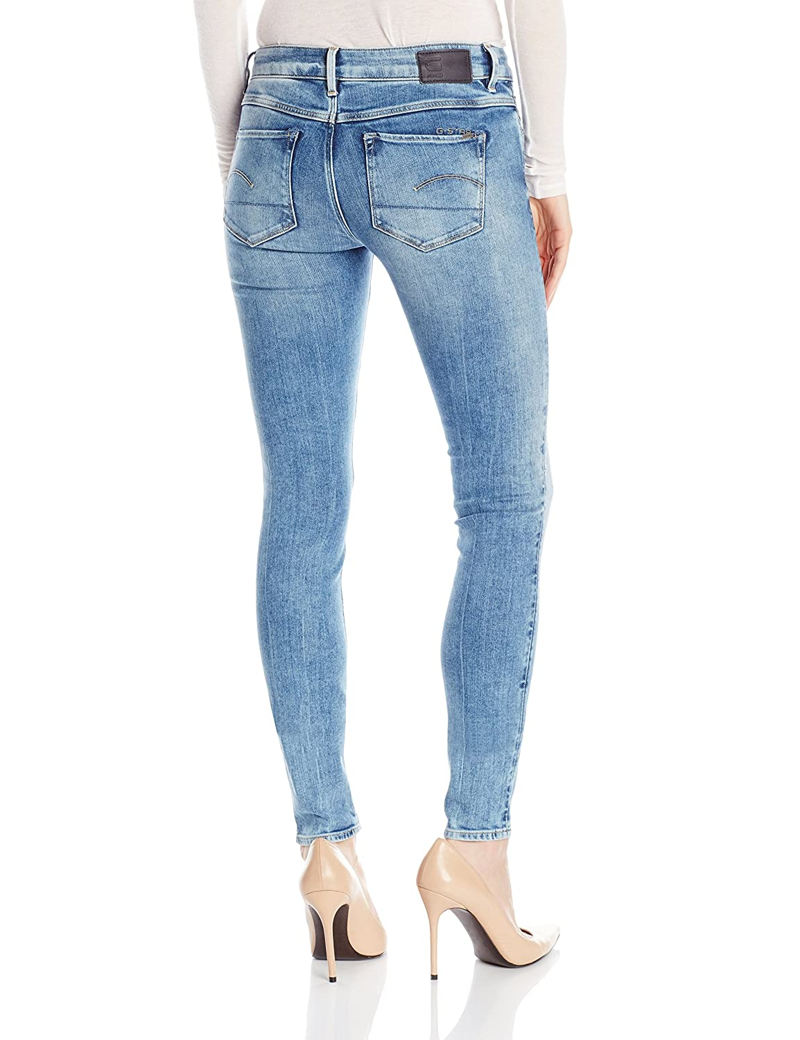 G-Star Raw Women's 3301 High Rise Skinny Fit Jean In Nippon Superstretch