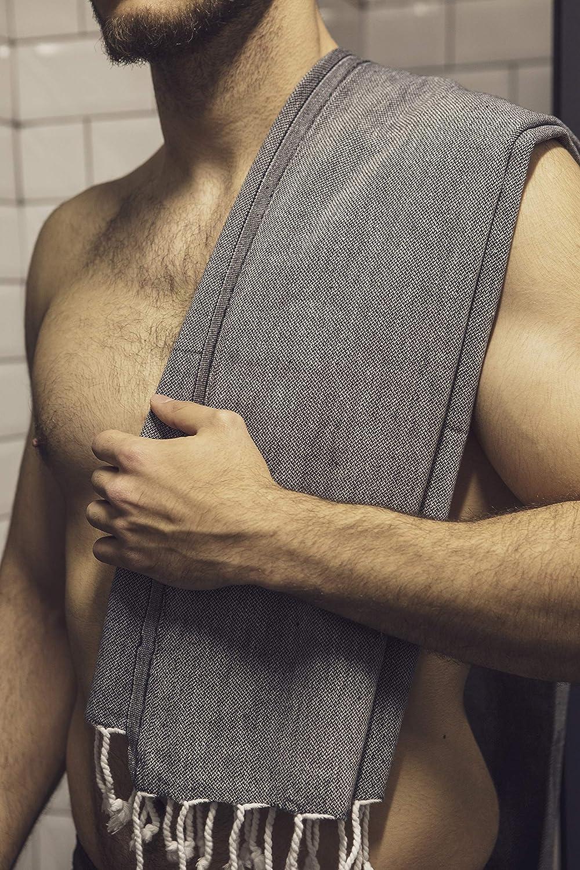 Beige AYSIBOO 180x90cm Turca Toalla de Hammam Hecho de 100/% Algodon I Turkish Sauna Towel en Muchos Colores I Toallas Pestemal Fouta I 750036