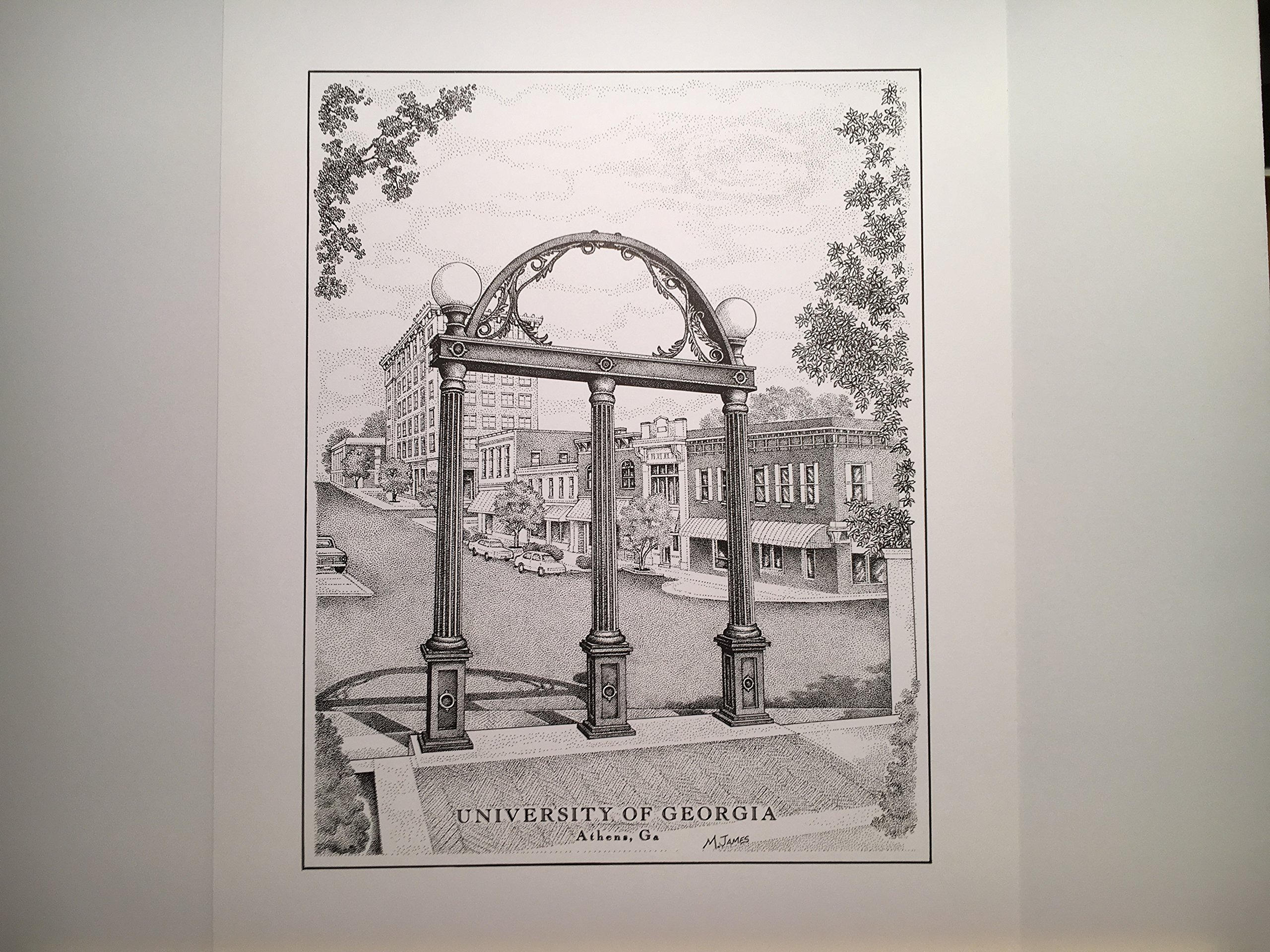 University of Georgia ''The Arch'' 11''x14'' hand-drawn pen and ink print