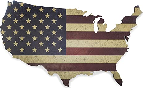 Amazoncom American Flag Wall Art Large 36 x 22 Laser Cut Wood