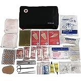 Kit di primo soccorso PRIME con 120 articoli (termometro digitale, soluzione antisettica, soluzione di salina fisiologica, pacchetto freddo instantaneo, coperta di emergenza, ...)