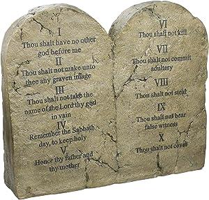Design Toscano DB43010 Ten Commandments Statue,Gothic Stone