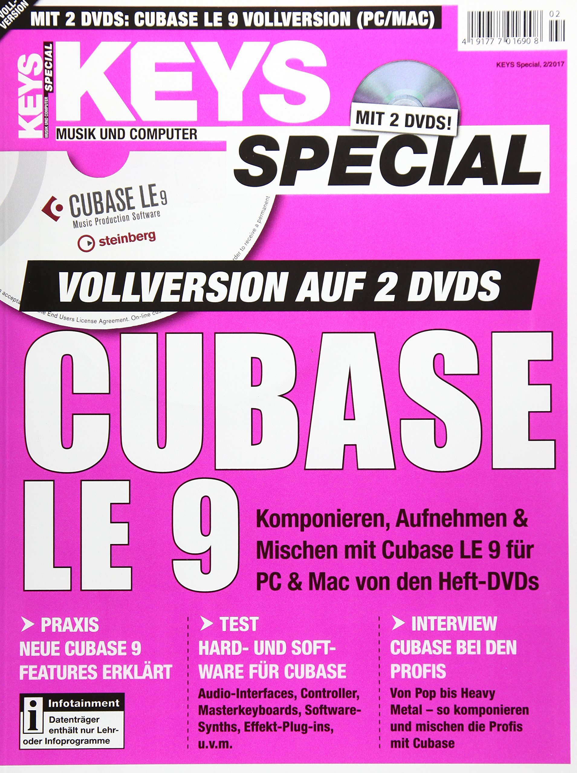 Cubase LE 9 Vollversion im Keys Special