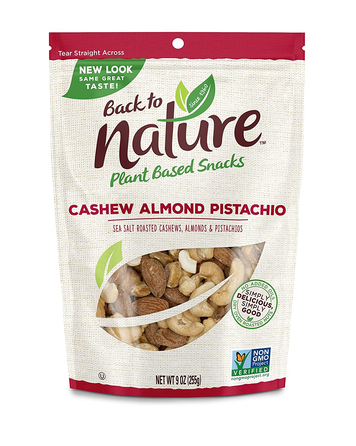 Back to Nature Trail Mix, Non-GMO Cashew Almond Pistachio Blend, 9 Ounce (Pack of 9)
