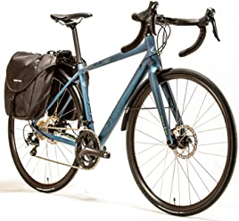Blue Road Endurance Bike Prosecco AL-Touring, Disc Brakes with Shimano Tiagra, 20 Speed, Dual Panniers