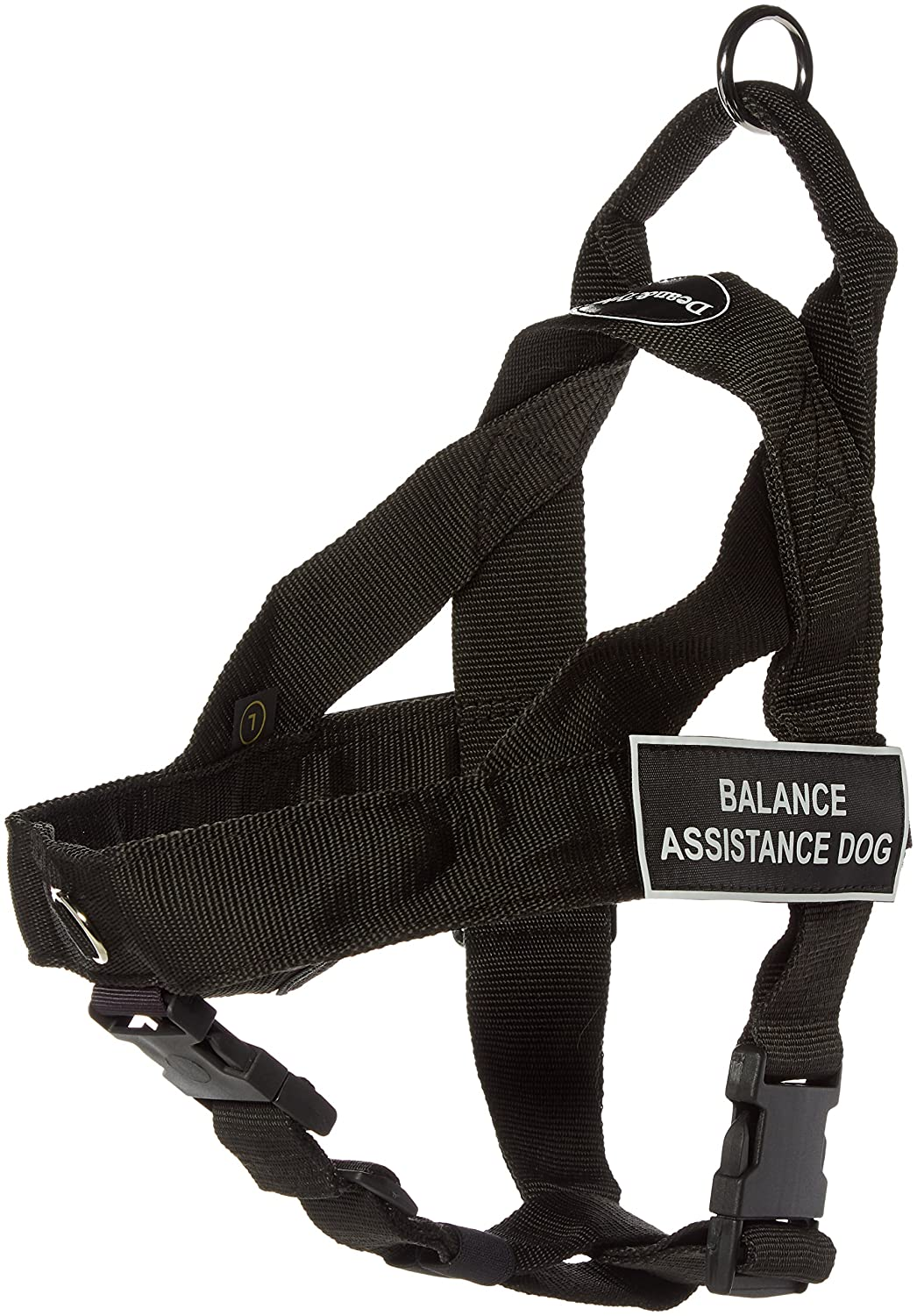 Dean & Tyler Universal No Pull 31-Inch to 42-Inch Dog Harness, Large, Balance Assistance Dog, Black