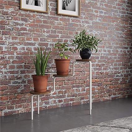 Novogratz Webster Walnut Plant Stand Furniture Decor Amazon Com