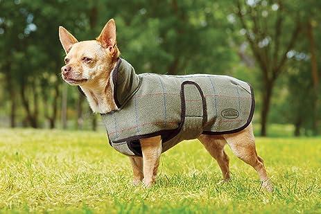 Amazon.com : Weatherbeeta Tweed Dog Coat Olive 18
