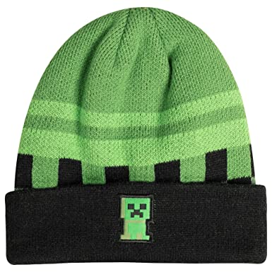 9f0bf02d3ef Image Unavailable. Image not available for. Color  JINX Minecraft Creeper  Sprite Fold Beanie ...