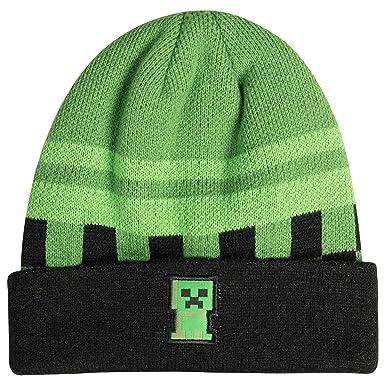 33598e4ed4b Amazon.com  JINX Minecraft Creeper Sprite Fold Beanie (Green Black ...