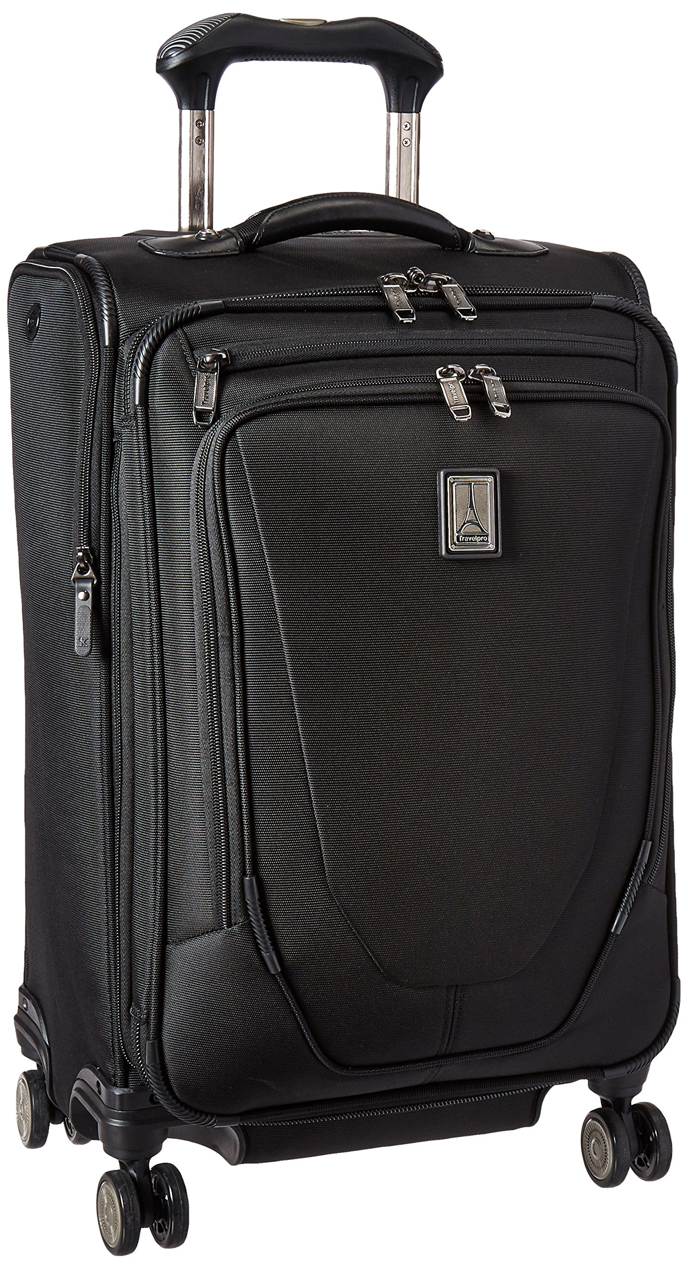 Travelpro Crew 11 21'' Expandable Spinner Carry-on Suiter Suitcase, Black