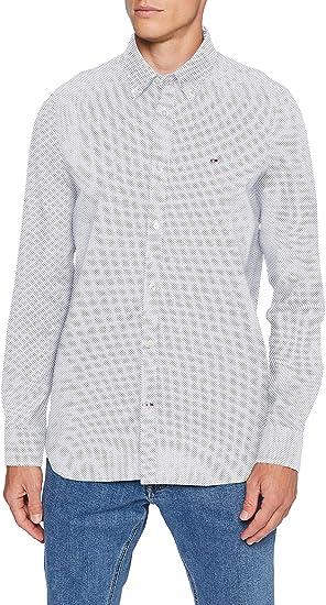 Tommy Hilfiger Slim Micro Print Twill Shirt Camisa para Hombre