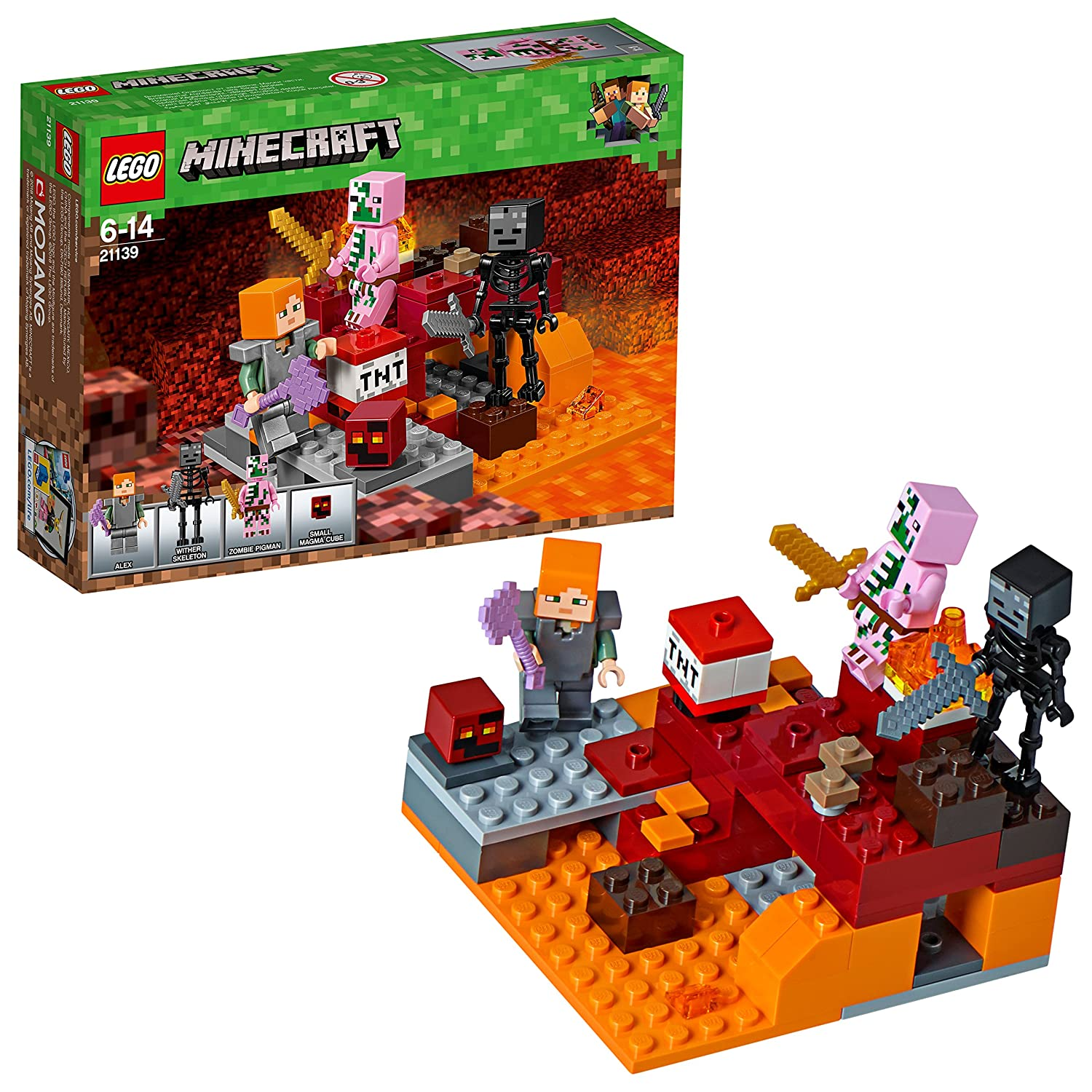 Lego Uk 21139 Minecraft The Nether Fight Construction Toy Amazon Assembling Building Block Toys Games