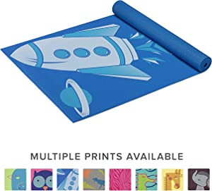 """Gaiam Kids Yoga Mat Exercise Mat, Yoga for Kids with Fun Prints - Playtime for Babies, Active & Calm Toddlers and Young Children (60"""" L x 24"""" W x 3mm Thick)"""