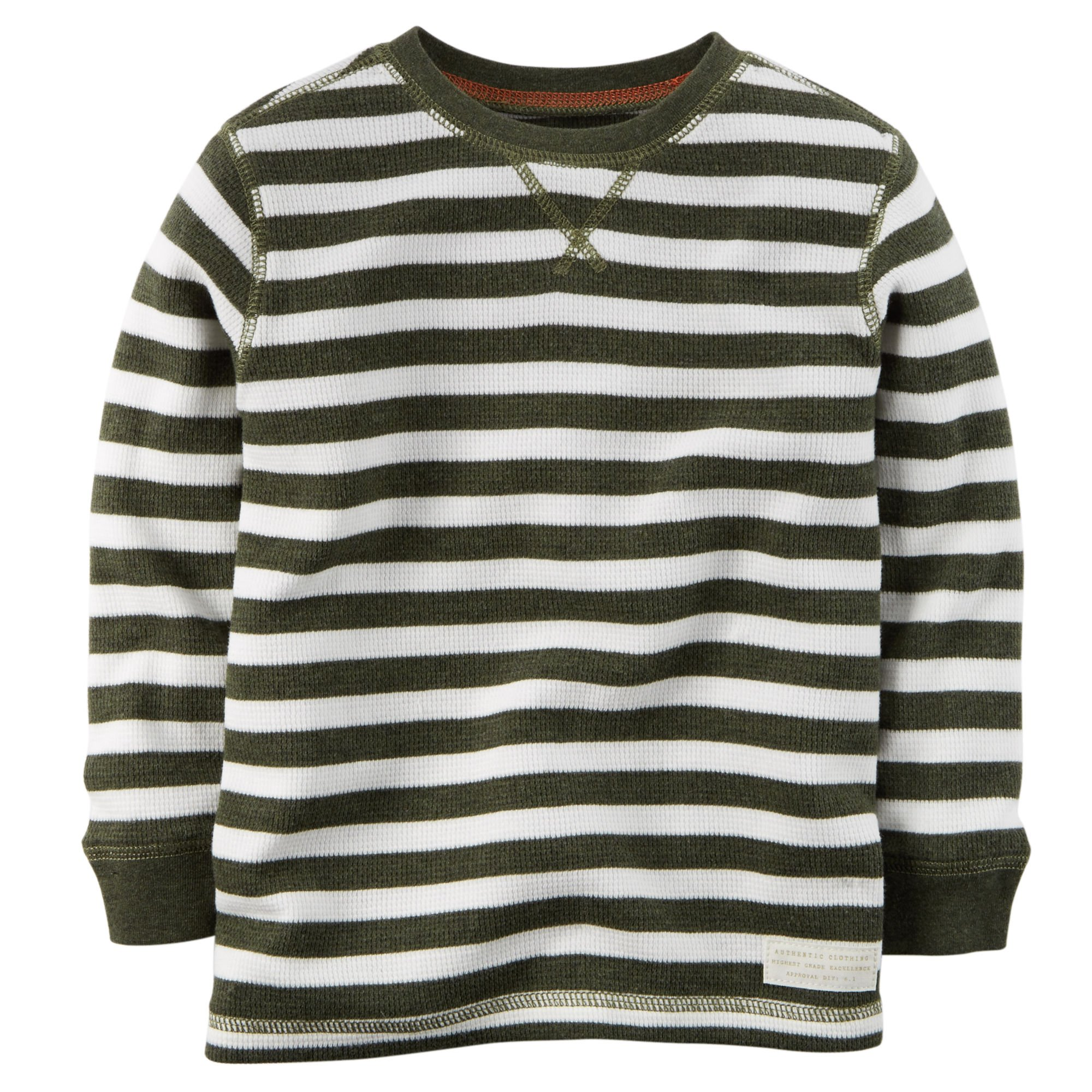 Carter's Little Boys' Striped Thermal Shirt (6, Olive) by Carter's
