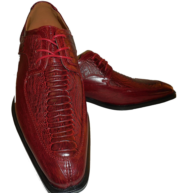 Antonio Cerrelli 6536 Mens Deep Red Modern Toe Dressy Oxford Fashion Shoes