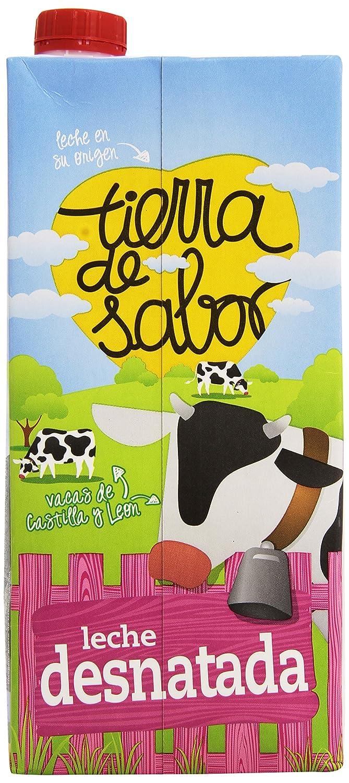 Tierra de sabor - Leche UHT Desnatada - 1 L: Amazon.es: Alimentación y bebidas