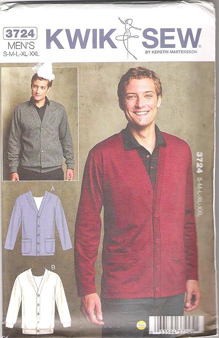 Amazon Kwik Sew Sewing Pattern 3724 Mens Sizes S Xxl Chest 34