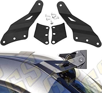 """Compatible with 1999-2006 Chevrolet Chevy Silverado Suburban Avalanche Tahoe /& GMC Sierra Yukon GS Power/'s Roof Mount LED Light Bar Brackets Choices of 50/"""" /& 52 inch   Straight /& Curved"""