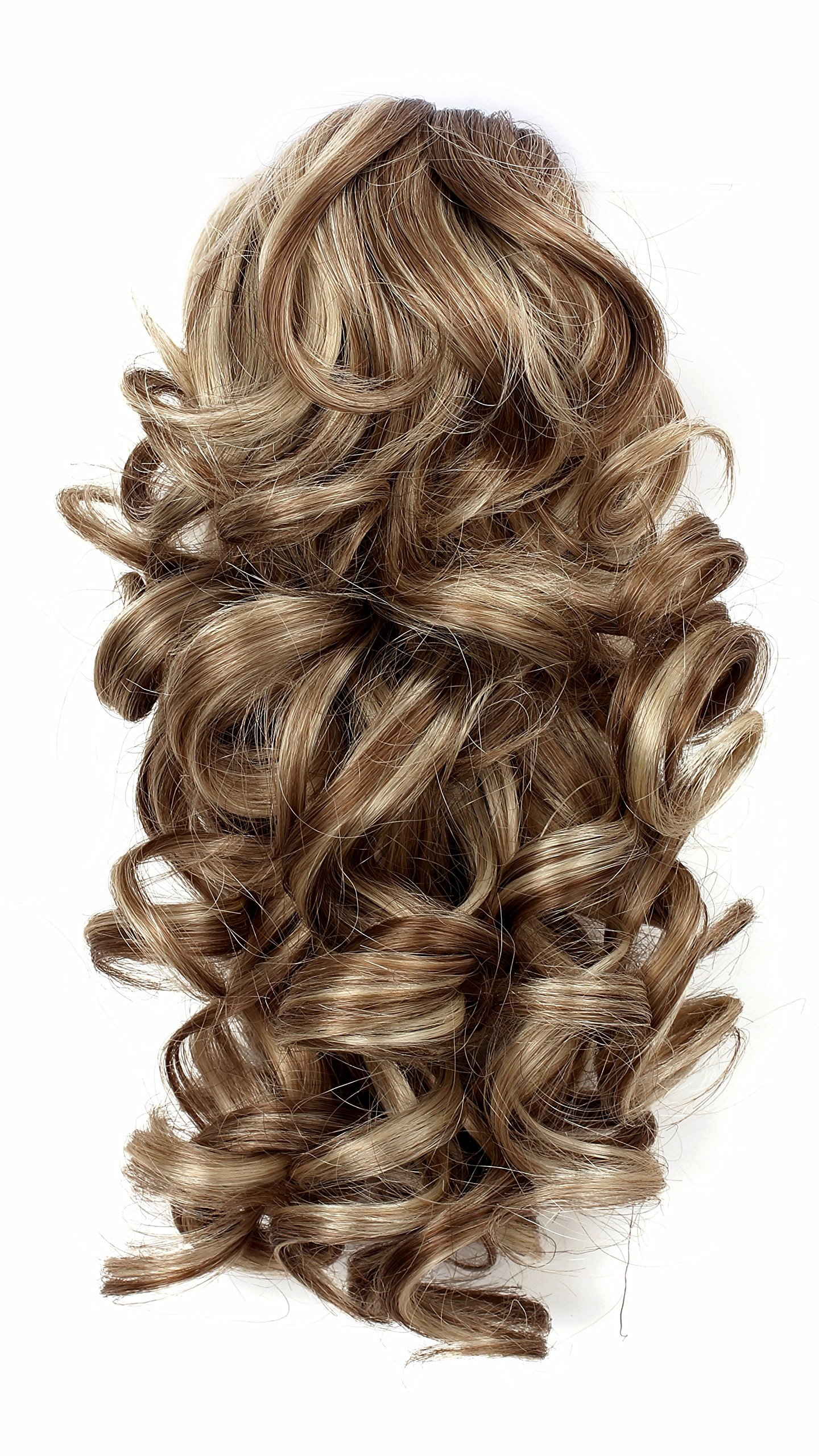 Onedor 12'' Synthetic Fiber Natural Textured Curly Ponytail Clip In/On Hair Extension Hairpiece (H16/613)