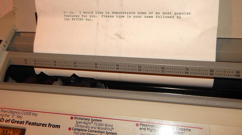 Smith Corona eléctrico máquina de escribir modelo DX 3500 hechizo derecho diccionario - Portátil: Amazon.es: Electrónica