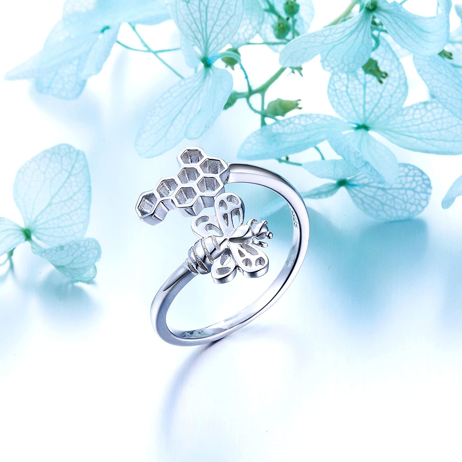 SILVER MOUNTAIN 925 Sterling Silver Open Animal Rings for Women Resizable Ring
