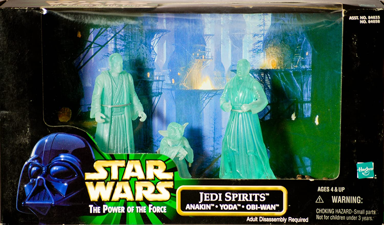 Star Wars Anakin, Yoda, Obi-Wan Power of the Force Cinema Scenes  Jedi Spirits Action Figure Multi-Pack Toy Rocket CS007 K3-GW9S-L6IF