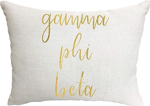 Gamma Phi Beta Sorority Throw Pillow