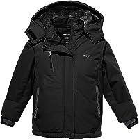Wantdo Girls' Waterproof Ski Jacket Winter Warm Windproof Fleece Snow Coat Parka