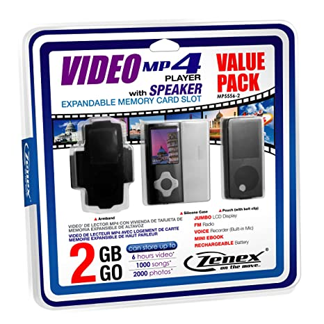 Amazon.com: Zenex MP5556-2 2 GB MP4 Video Player, Black ...