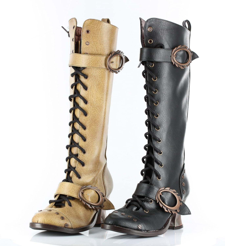 Unbekannt Hades Thundra, Vintage, Retro, Vintage-Stil, PU-Leder, zum Schnüren Knie-Stiefel