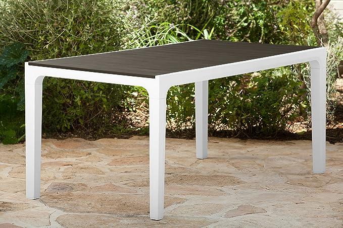 Keter - Mesa de jardín exterior Harmony, Color Beige / topo ...