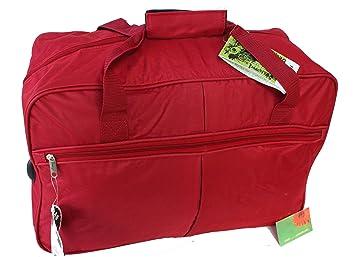 Bolsa de viaje Pequeña Equipaje de mano con ruedas para mujer hombre niño niña (3253 Rojo): Amazon.es: Equipaje