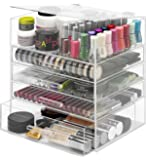 Whitmor 5 Tier Acrylic Cosmetic and Accessory Organizer
