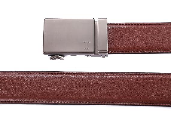 Tonywell Herren Leder Ratchet Kleid Gürtel mit abnehmbare Schnalle Mode  Farben Gürtel (Eine Größe  32