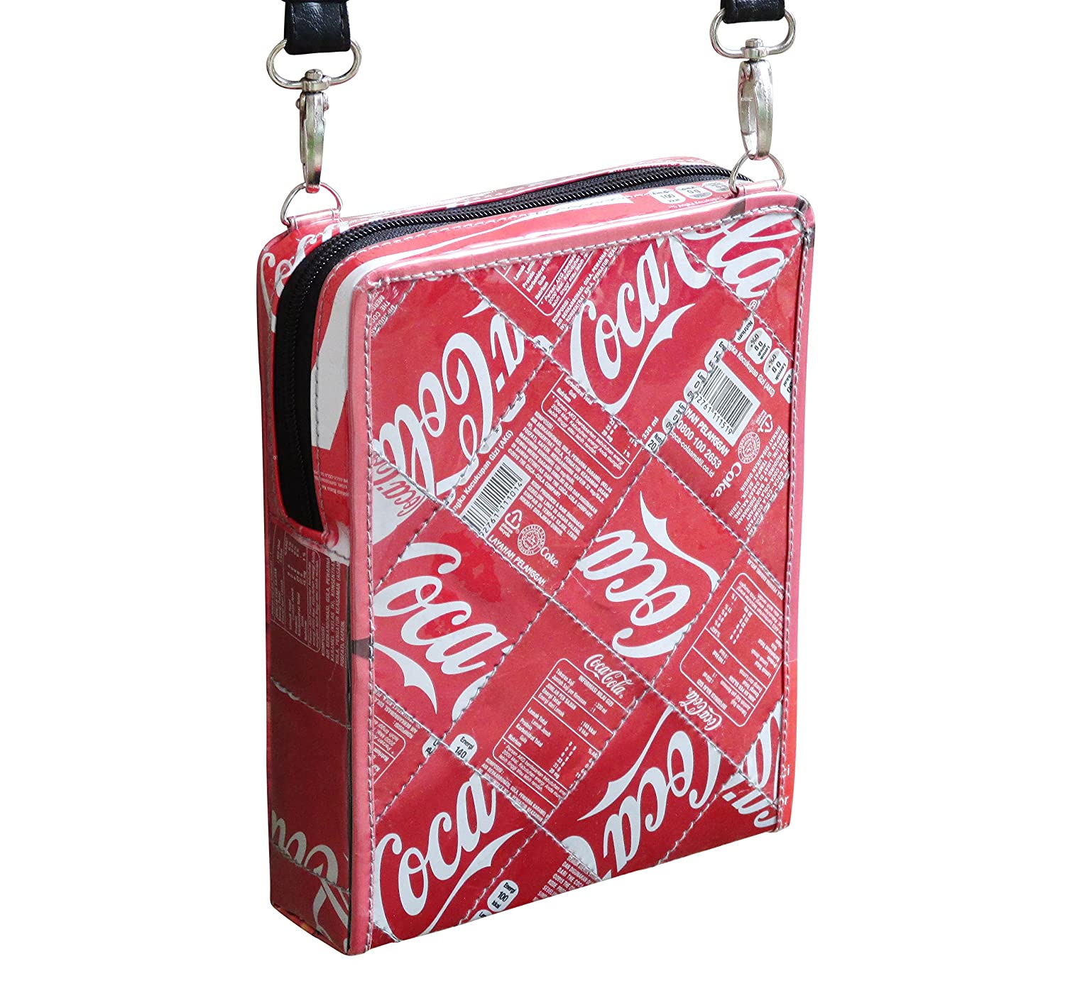 Small crossbody made of Coca Cola can - FREE SHIPPING, upcycled eco friendly vegan style recycled made from reclaimed repurposed materials handmade bag gift gifts upcycling recycling coke material