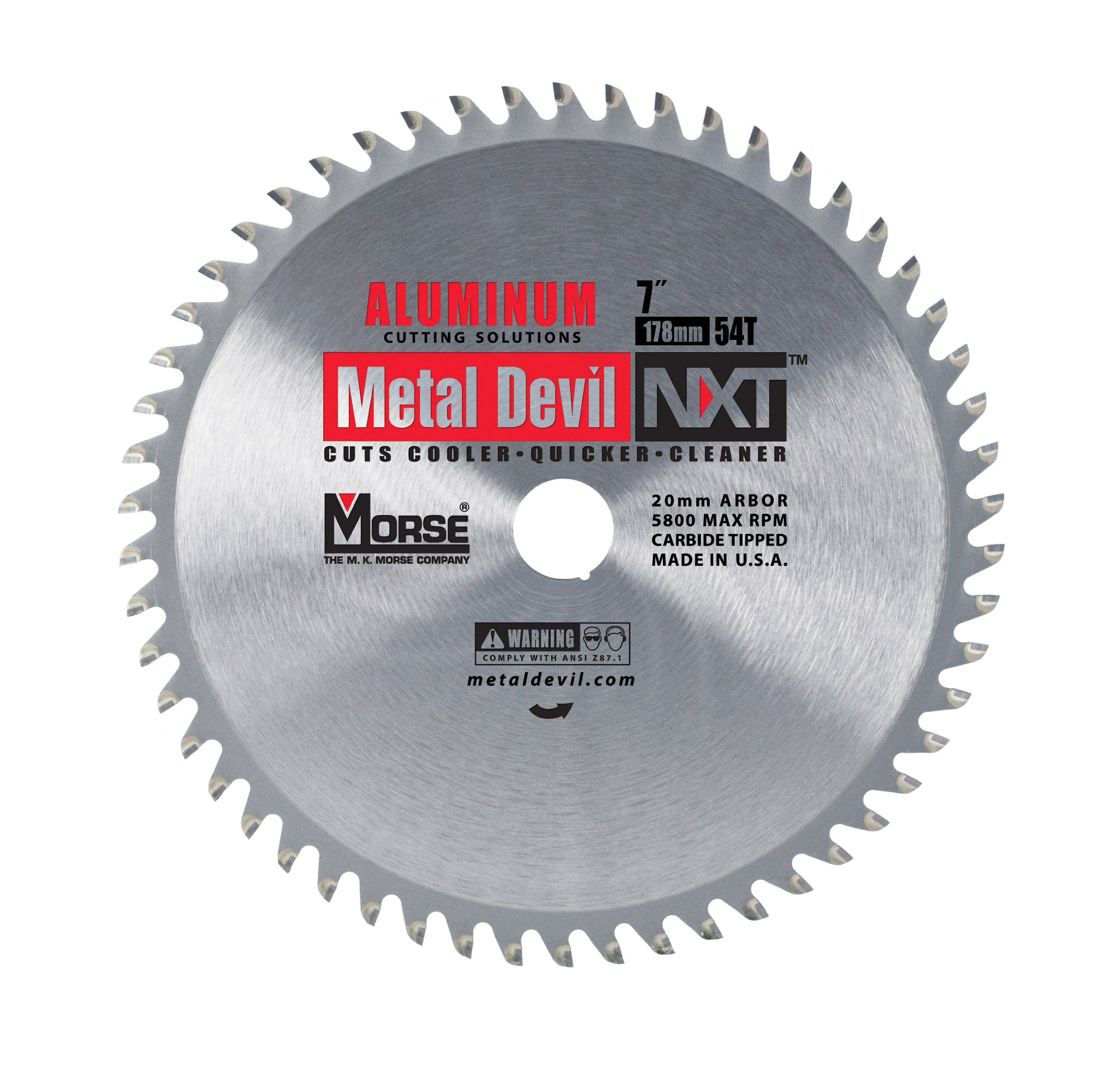 Disco Sierra MK MORSE CSM754NAC Metal Devil Aluminio Aplic